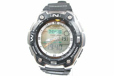 Auth Casio Fishing Geae Aqw 101 Watch Mens Cg2056l