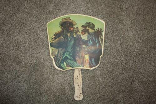 Vintage Advertising Hand Fan Coon Chicken Inn Unique hand fan
