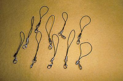 11 Bänder/Band für Anhänger - schwarz - Handy/Schmuck/Charm/USB-Stick/... *neu*