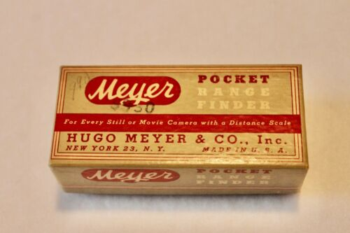 Vintage HUGO MEYER POCKET RANGE FINDER w/Original Box
