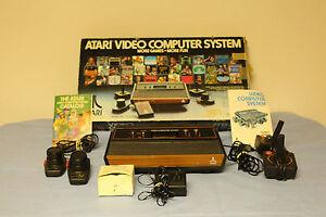1970s atari 2600 cx2600a video game console in original box atari 5200 7800 ebay - Original atari game console ...