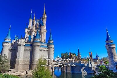 "Landscape photograph ""Disney Magic Kingdom""  Calvin Chen signed(50 Megapixel) for sale  Shipping to Canada"