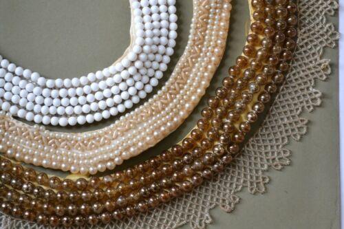 Vintage/antique beaded collar lot 4 Japan Baar Beards handmade Glentex glass