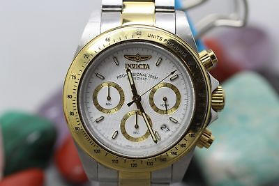 Invicta Professional Speedway All Stainless Steel 9212 Men's Wrist Watch Running