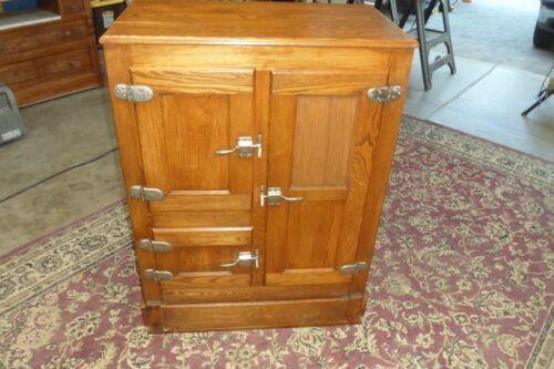 Antique Golden Oak Wood Ice Box