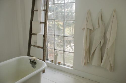 Set of 3 Large Antique European Linen Towels Mismatched & Rustic