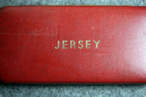 1964 - Bailiwick of Jersey 4 Proof Coin Set In Red Case Royal Mint!!  #I1020