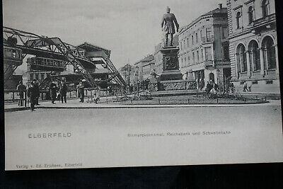 AK Elberfeld Bismarckdenkmal Reichsbank  ca  1906