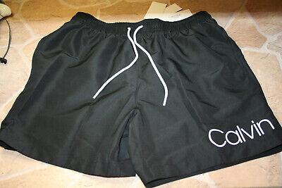 Calvin Klein Herren Badehose Short Drawstring gr. L Black White Neu #1