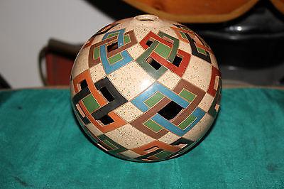 Maynor Martinez Pottery Bowl Sphere Vase-San Juan De Orienta-Geometric Shapes