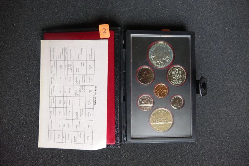 Canada 1980 silver 7 Coin Double Dollar Specimen Set COA Display Case.