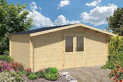34 mm Gartenhaus Aktion ca. 6x5 m Gerätehaus Holzhaus Holz Blockhaus Datsche