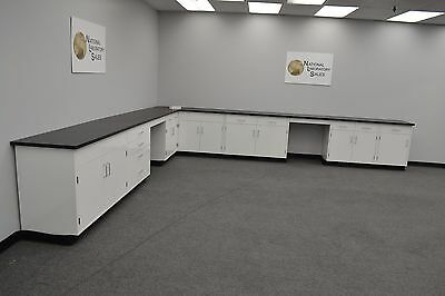 Used, 17′x15′ Fisher American Base Laboratory Furniture Cabinets LAB EQUIPMENT -E1-101 for sale  Rockford