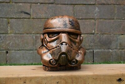 Star Wars Stormtrooper Reconstituted Stone Garden Ornament Bronze  -Free UK P&P