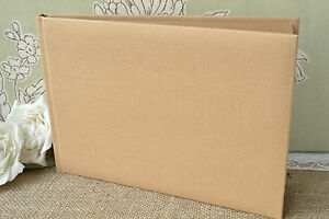 Plain Blank Kraft Brown Guest Book DIY Wedding Guest Book EBay