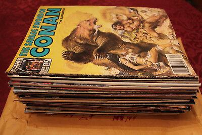 Lot of 27 Savage Sword Of Conan The Barbarian Magazines Marvel Comics