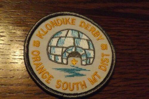 BOY SCOUT PATCH 1991 ORANGE SOUTH MT DISTRICT