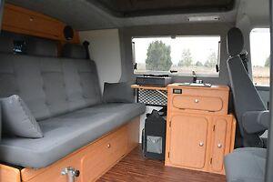 VW Bus T 4 Klappsitzschlafbank mit Kopfstützen neu !!!! Sitz Schlafbank für WOMO