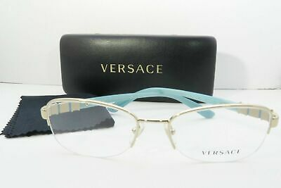 Versace Women's Gold/Teal/Crystals Glasses and case MOD 1230-B 1362 52mm