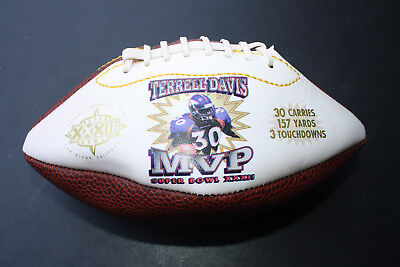 Terrell Davis Broncos MINI FOOTBALL SUPER BOWL MVP](Super Bowl Accessories)