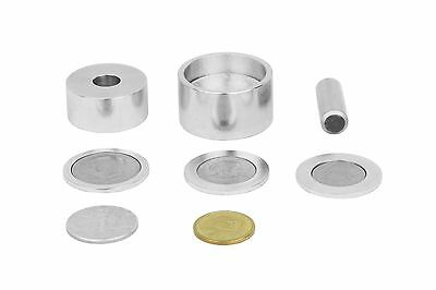 "Coin ring punch and die set (1/2"" hole) with 3 spacers."