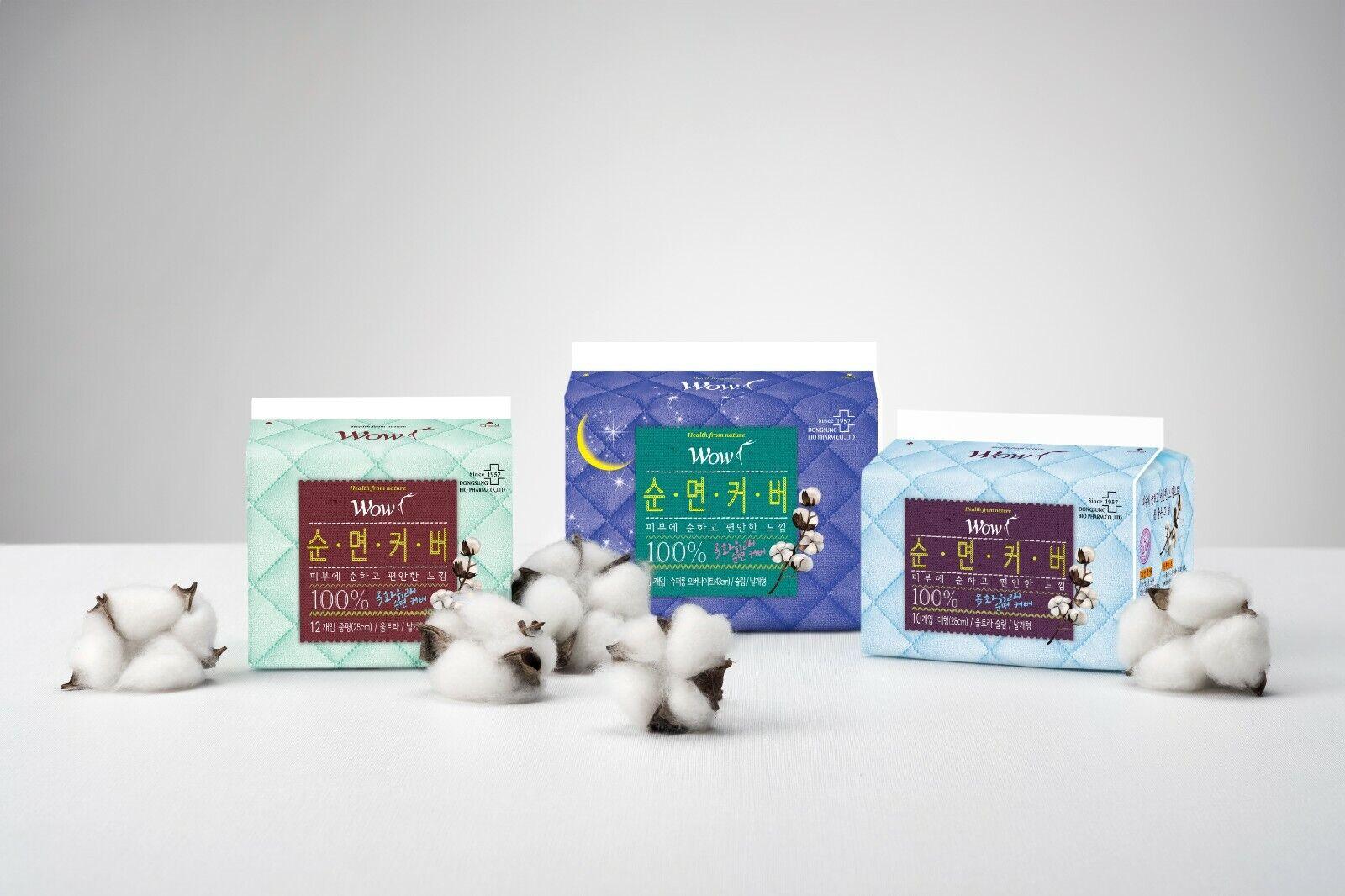 WOW 100% Cotton Sanitary Napkin Odorless Pads Ultra Thin Win