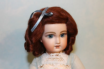 Daisy Auburn mohair wig for antique French/ German bisque doll size 13