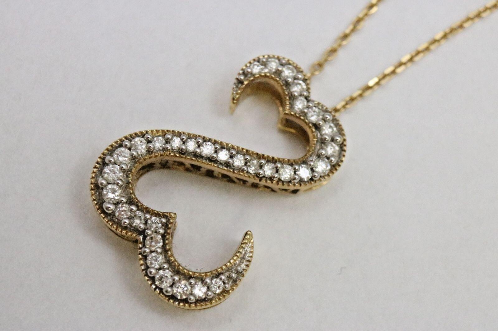 open hearts 14k yellow gold diamond pendant jane seymour. Black Bedroom Furniture Sets. Home Design Ideas