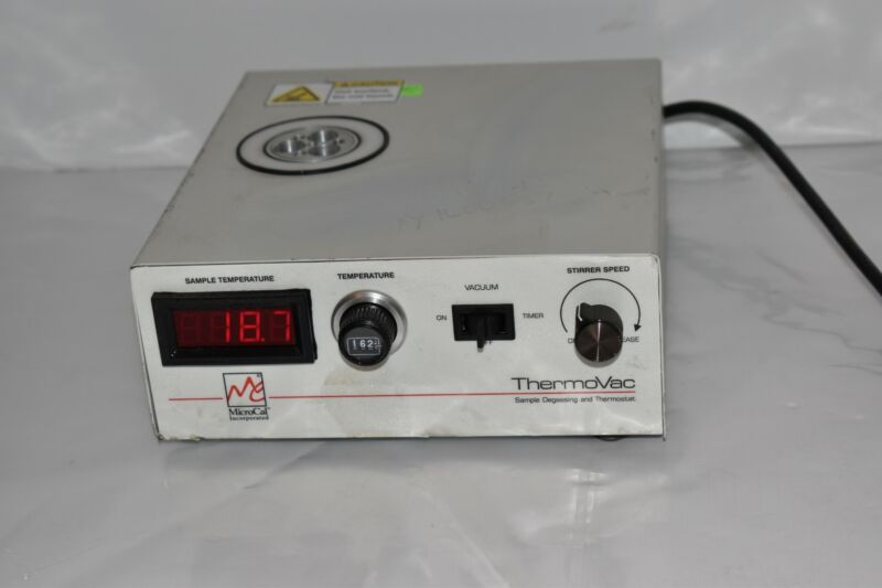 MICROCAL INC THERMOVAC SAMPLE DEGASSING & THERMOSTAT MODEL THERMO VAC2 (NP97)