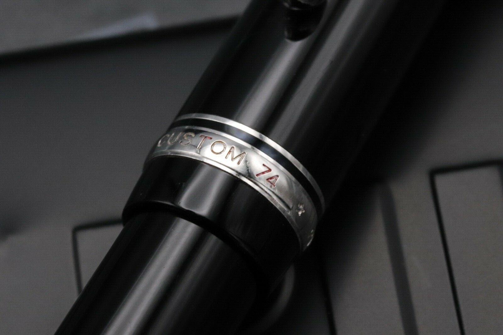 Pilot Custom 74 Black Fountain Pen 4