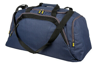 Mens Large Navy Sports & Gym Duffle Holdall Bag SPORTS TRAVEL WORK By MIG