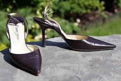 Jimmy Choo Shoes   Coffee Kid Leather   Syria   EU40.5   £300 RRP
