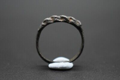 Early Medieval Viking period bronze faux rope twist ring C. 9th-11th century AD