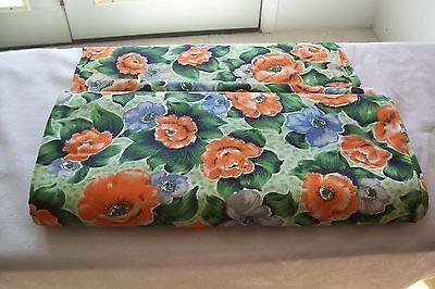 "VTG BOLT Floral Dress Fabric Rayon/Cotton 36"" W FANTASIA PRINTS"