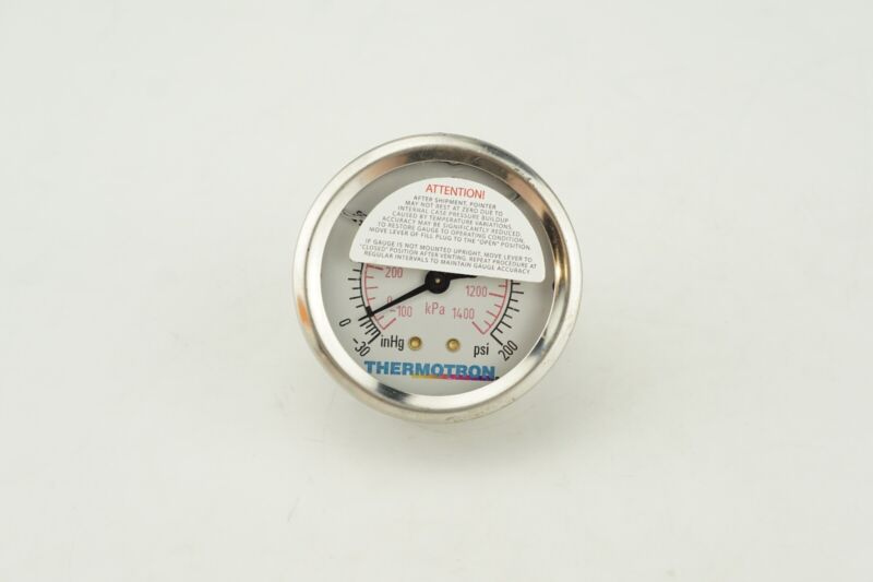 New Genuine OEM Thermotrol Replacement Pressure Gauge -30 to 200 PSI KPA