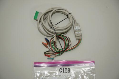 Nihon Kohden JC-906PA ECG Trunk Cable 12 Pin 3 4 6 Lead EKG w/ 6 lead Cable