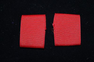 BSA BOY SCOUT SHOULDER BOARDS LOOPS EPAULETTES - RED  (pair)