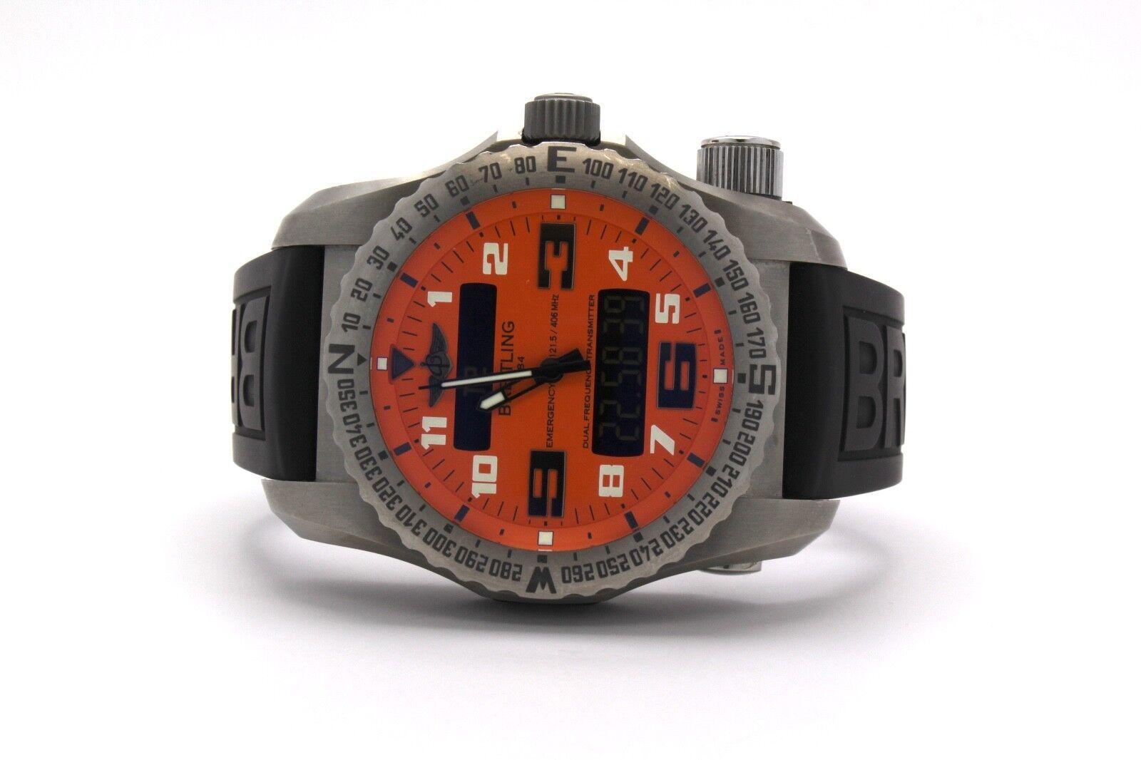 $12495.00 - Breitling Emergency II Titanium Orange Dial E76325
