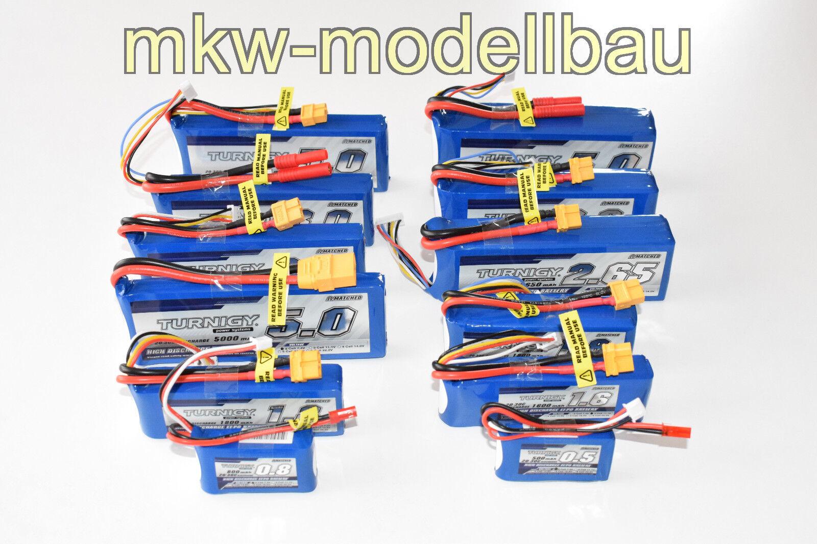 Turnigy Lipo Akku Pack 2s 3s 4s 5s 6s | 500 - 5000mAh | 20 - 30C Serie