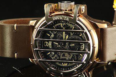 Invicta 20259 Men's Vintage Black Leather Band Swiss Quartz Analog Watch