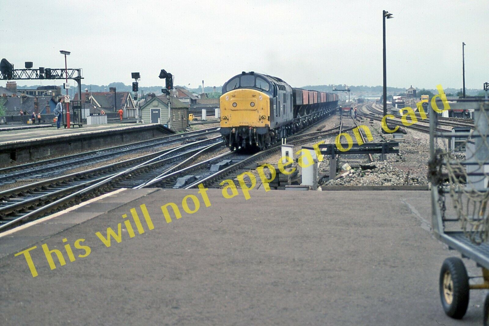 A Photograph of Diesel Locomotive Class 37. No. 37227 at Reading in 1988 (2)