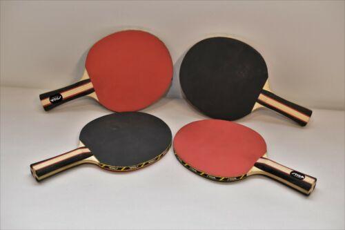 STIGA Ping Pong Paddle Set Rubber Back Black / Red Apex Premium    >   65b