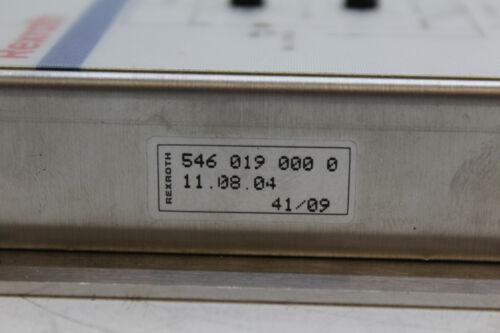 Rexroth 546 019 000 0 Position controller