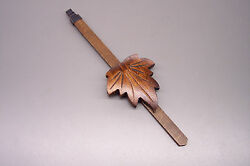 NEW MAPLE LEAF WOOD CUCKOO CLOCK PENDULUM - cookoo coo coo service repair part