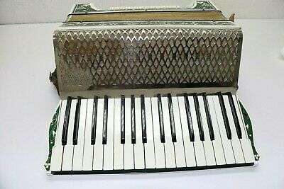 Vintage Hohner Accordion  Concertina Diatonic Button  Floral Design w/case