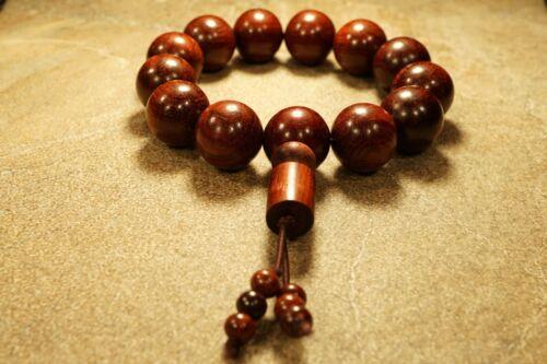 Red Sandalwood Bracelet • Large Bead Red Sandalwood Bracelet • 18mm • 3107