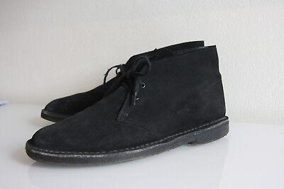 Clarks Desert Boots Gr: 44,5 US 10,5 UK 10 wallabes Leder schwarz