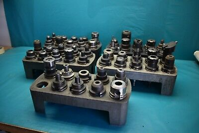 Used Lot Of 49 Cat 40 Holders Haas Lyndex Smith Centaur With Pull Stud