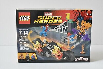 Lego Marvel Super Heroes Spiderman Ghost Rider Team Up 76058 Retired Set Sealed