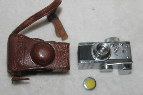 Vintage Steky miniature Spy Camera 16mm  in ORIGINAL leather case